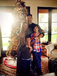 leann rimes and eddie cibrian pose with sons and wear matching