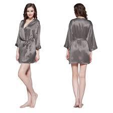 robe de chambre soie déshabillé en soie avec ceinture élégant lilysilk