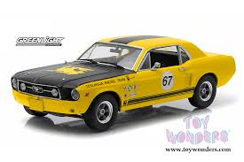 Yellow Mustang With Black Stripes 1967 Ford Mustang Hard Top 67 Terlingua Racing Team 12934 1 18