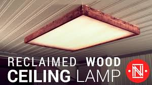 Diy Ceiling Light by Making A Reclaimed Wood Box Light How To Youtube