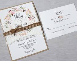 wedding invitation kits rustic wedding invitation kits marialonghi