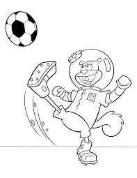 sandy playing soccer coloring page boys pages of