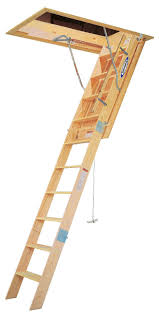 attic ladder werner heavy duty wood stairway loft pull down 10