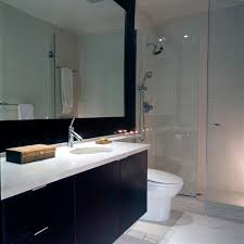 Spa Look Bathrooms - glass partition bath