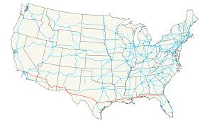 Usa Highway Map Interstate 10 Wikipedia
