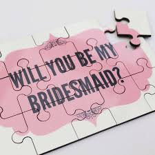 bridesmaid invitations uk will you be my bridesmaid jigsaw by lou brown designs