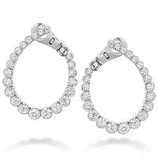 hoop earrings aerial regal diamond hoop earrings