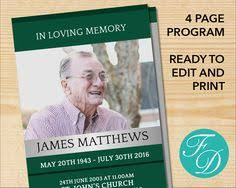 print funeral programs printable funeral program ready to edit print simply