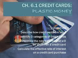 money cards ch 6 1 credit cards plastic money ppt online