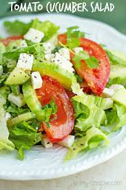 easy salad recipe tomato cucumber salad with feta oh my creative