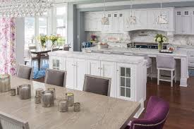 Kitchen And Dining Room Layout Ideas Traditional Coastal Home With Classic White Kitchen Home Bunch