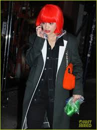 wigs at halloween city rita ora wears red wig for halloween in new york city photo