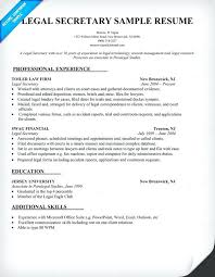 Administrative Assistant Resume Template Legal Secretary Resume Sample Legal Secretary Resume Sample