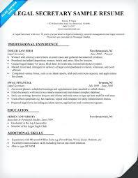 legal secretary resume sample related for legal resume examples