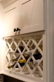 wine rack cabinet over refrigerator how to build a lattice wine rack over the refrigerator how to make