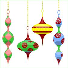 ornaments clipart retro pencil and in color