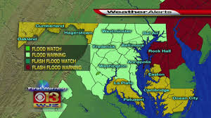 Map Of Baltimore Md Flooding A Concern After Severe Weather Moves Through Md Cbs