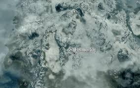 Elder Scrolls World Map by Image Frostmoon Crag Map Png Elder Scrolls Fandom Powered By