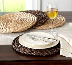chunky woven round charger pottery barn decor pinterest