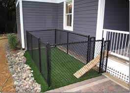 Backyard For Dogs by A Small Very Small Backyard Dog Run Right Off The Porch Or Deck