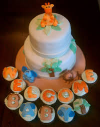 jungle themed baby shower cake and cupcakes cakecentral com