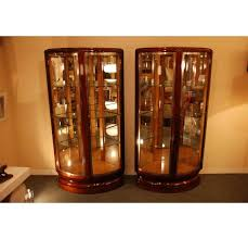 pint glass display cabinet sold pair of art deco display cabinets by rinck