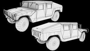 humvee drawing vehicles alex zelenin portfolio