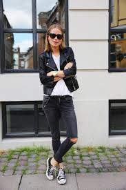 winter biker jacket winter street style trends for women fashiongum com