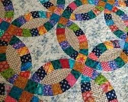 wedding ring quilt for sale quilts etsy