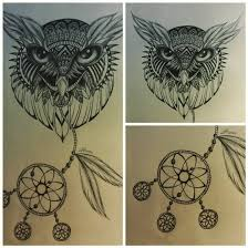 dreamcatcher owl tattoo design by slightlyannoyed cake on deviantart