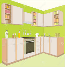 kitchen room furniture kitchen furniture interior royalty free cliparts vectors and