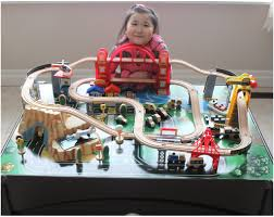 kidkraft train table compatible with thomas kidkraft metropolis train set and table toy train youtube