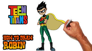 draw robin teen titans step step