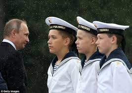 vladimir putin military vladimir putin shows off russia s military might in annual navy day