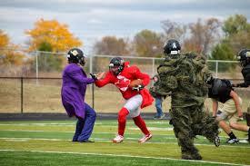 golden demon football halloween costume practice