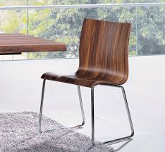 brown dining chair in natural brown colors and chrome base st