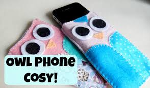 diy felt owl phone cosy hand sewing how to the corner of craft