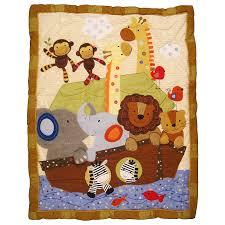 Lambs And Ivy Mini Crib Bedding amazon com lambs u0026 ivy s s noah 5 piece bedding set s s noah