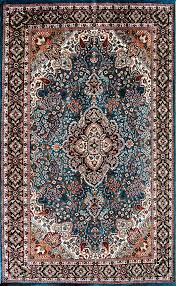 Home Decor Mumbai 7 By 5 Wool Silk Carpet Mediterranean Blue Nahavand From Mumbai India