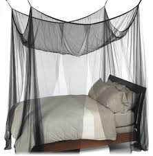 Bed Canopy Nicamaka Casablanca Black 4 Point Decorative Bed Canopy