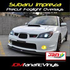 subaru impreza fog lights precut yellow fog light overlays tint 06 07 wrx sti jdmfv