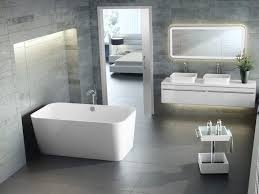 small modern bathroom in fully white theme with rectangle lighted