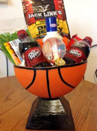 basketball gift basket basketball basket i made for my boyfriend with stuff he likes in
