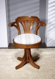 bureau ameublement fauteuil de bureau emilio en hêtre massif tournant assise tissu d