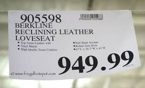Berkline Reclining Loveseat Costco Berkline Reclining Leather Loveseat 949 99 Frugal Hotspot