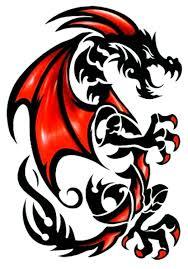amazon com tribal red u0026 black draco dragon temporary body art