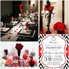 Engagement Party Decorations Ideas by Red Black And White Party Decorations Ideas House Design Ideas