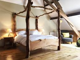 Oak Bed Rustic Oak Four Poster Tree Bed
