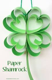 Shamrock Decorations Home How To Make A Paper Shamrock
