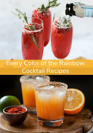 colors of the rainbow cocktail recipes happy hour entertaining